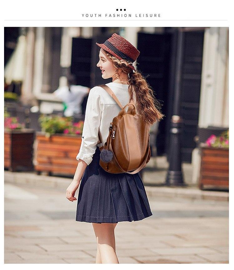 H37a26d3dc36f47a394776615649cc0b1R 2019 Women Leather Anti-theft Backpacks High Quality Vintage Female Shoulder Bag Sac A Dos School Bags for Girls Bagpack Ladies