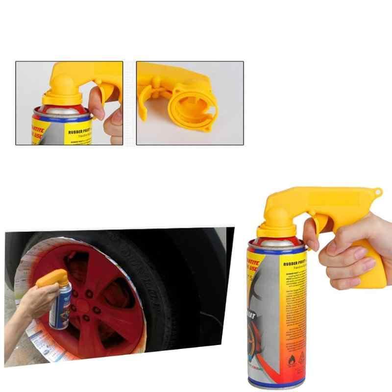 Handle Spray Adaptor Paint Care Aerosol Spray Guns Handle with Full Grip Trigger Locking Collar Car Maintenance Yellow Black