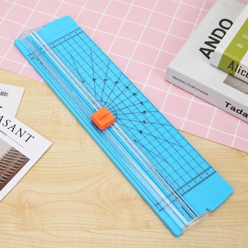 Nowa przenośna przycinarka do papieru A4 precyzyjna gilotyna do papieru maszyna do cięcia biuro plastikowe etykiety mata do cięcia zdjęć maszyna DIY Craft