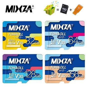 MIXZA Memory Card 256GB 128GB 64GB U3 80MB/S 32GB Micro sd card Class10 UHS-1 flash card Memory Microsd TF/SD Cards for Tablet