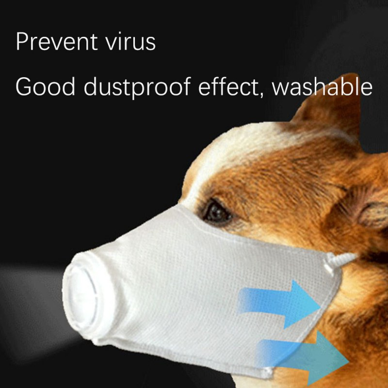 font b Pet b font Dog Dust And Antibacterial Mask Anti Haze For Dogs Outdoor