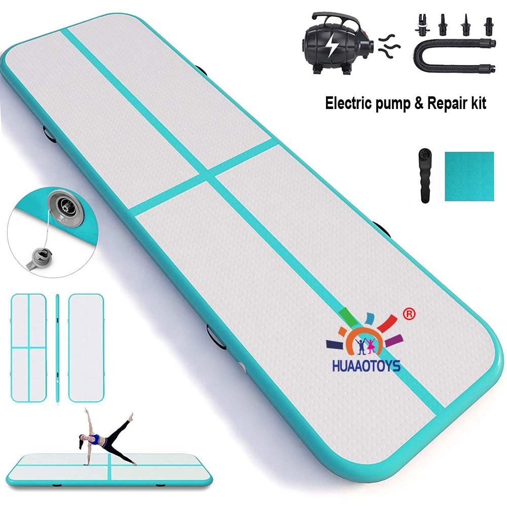 Trampoline gonflable de plancher de voie d'air de culbuteur de gymnastique de 3m 4m 5m pour l'usage à la maison/formation/Cheerleading/plage avec la pompe électrique - 2