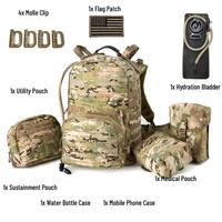 Tactical Backpack, Medium Molle Rucksack,Army Day Hydration Pack with Sustainment and Medical Kits Pouch