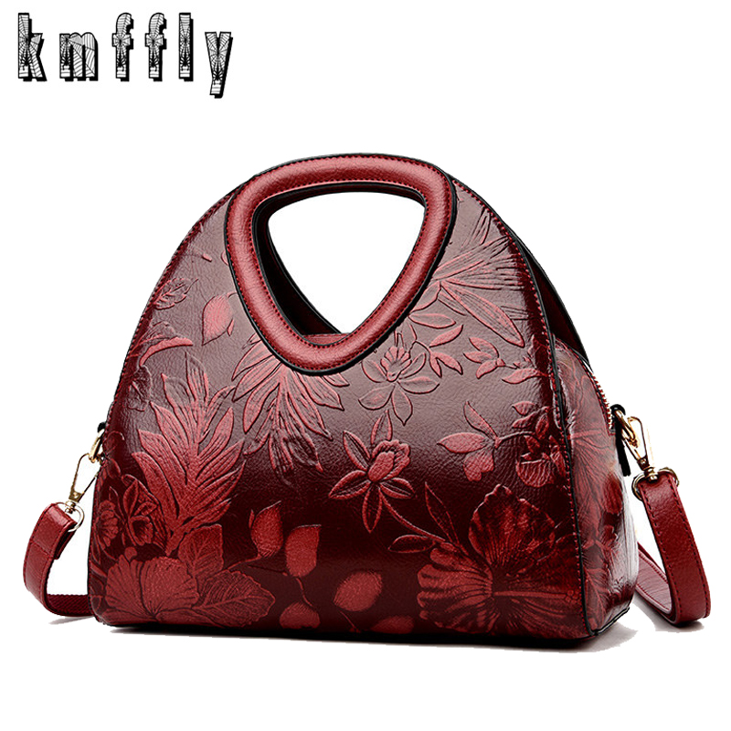 New Women Large Handbag High Quality Leather Luxury Handbags Women Bags Designer Fashion Print Messenger Bags For Women 2019 Brand Lady Shoulder Bag Tote