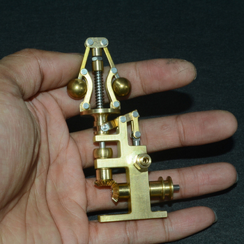 58 X 36 X 90mm Mini Brass Steam Engine Flyball Governor With 3mm Steam Tube Port