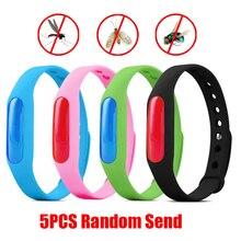 5Pcs Kleurrijke Milieubescherming Siliconen Polsband Zomer Muggen Armband Anti Muggen Band Christmas Gift X