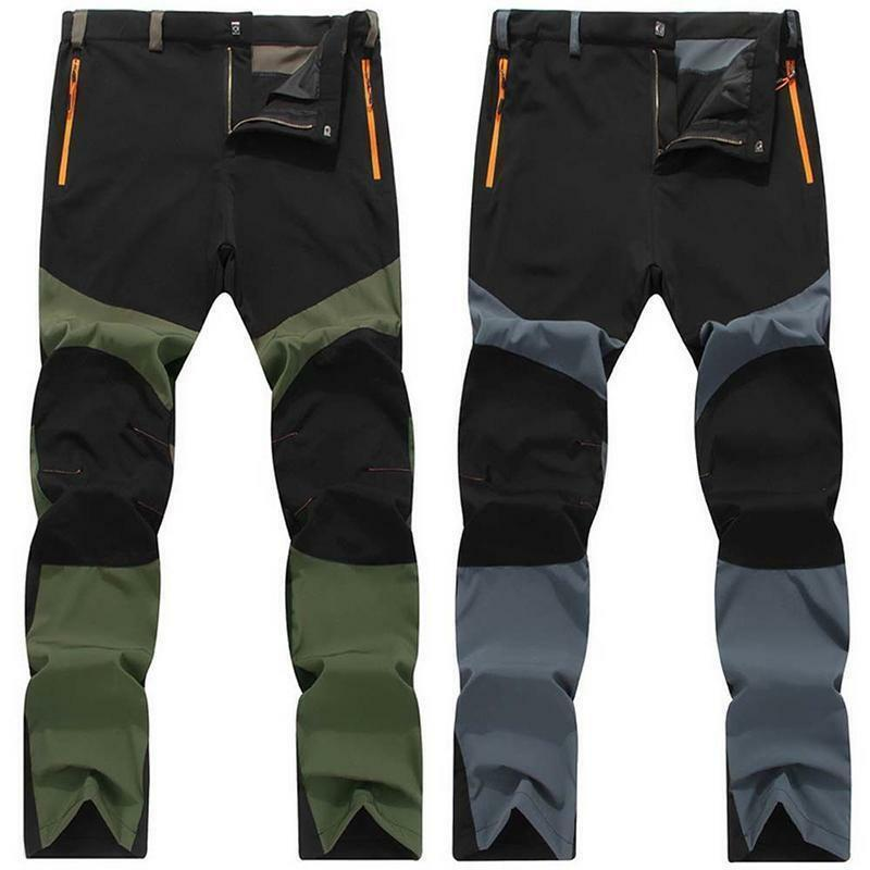 Size L To 4XL Plus Size Men Hiking Long Pants Quick Dry Outdoor Removable Hiking Camping Pants Men Breathable Climbing Trousers