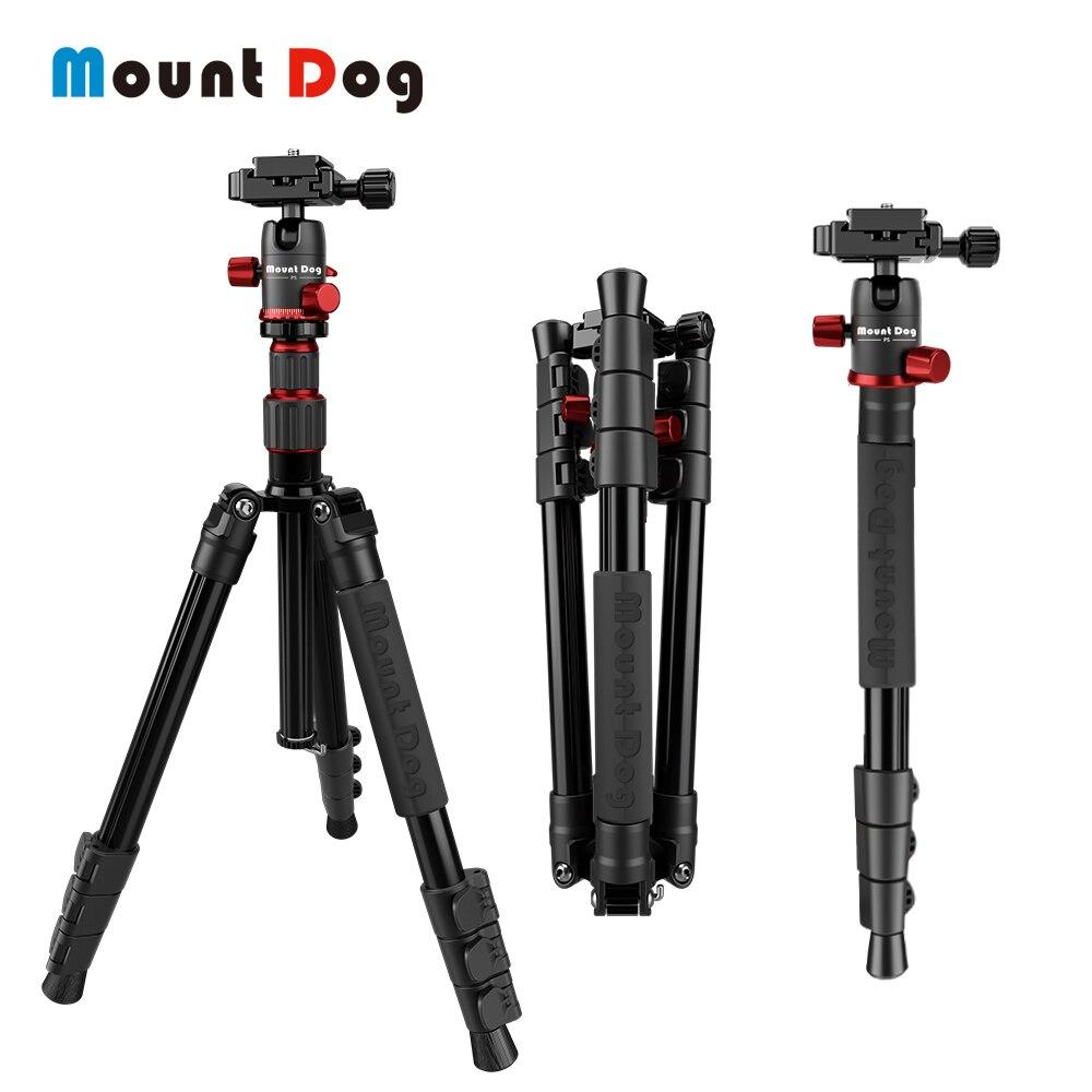 MountDog Câmera De Fibra De Carbono Tripé Portátil Profissional para Nikon Canon DSLR Camera Digital com 360 Bola de Cabeça