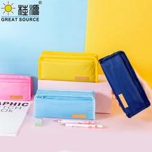 Standing Pencil Case School Pencil Bag Office Stationery Organizer Bag Oxford Fabric Big Space Ziplock Closer(40PCS)