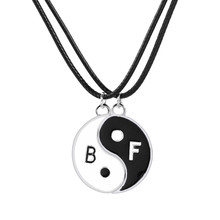 Classic Choker Tai Chi Bff Hangers Voor 2 Best Friends Forever Ketting Statement Sieraden Bagua Splice Kettingen(China)