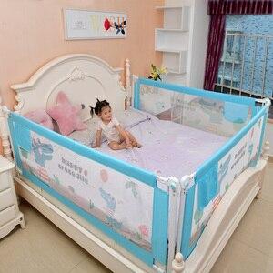 Image 2 - Baby Bett Zaun Hause Sicherheit Tor Produkte kind Pflege Barriere für betten Krippe Schienen Sicherheit Fechten Kinder Leitplanke Kinder Laufstall