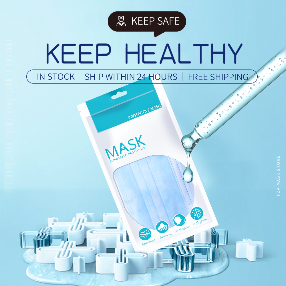 Mouth Face Mask Disposable Masks 3-Ply Mouth Anti-Dust Mask