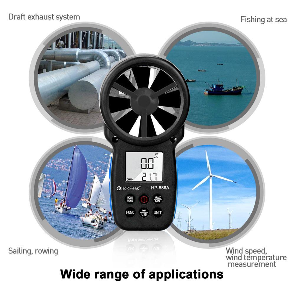 HoldPeak 866A digitális szélmérő - A szélsebességmérő méri a - Mérőműszerek - Fénykép 2