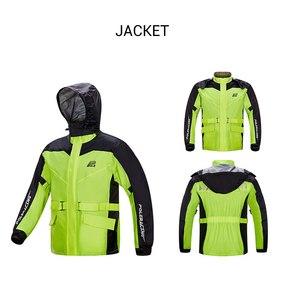 Image 3 - POL Motorrad Regenmantel + Regen Hosen Moto Regen Anzug Lüften Poncho Wasserdichte Motorrad Regen Jacke Reiten Motorrad Regen Mantel
