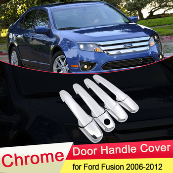 цена на for Ford Fusion SE Sport 2006 2007 2008 2009 2010 2011 2012 Luxuriou Chrome Door Handle Cover Trim Car Cap Set Accessories ABS