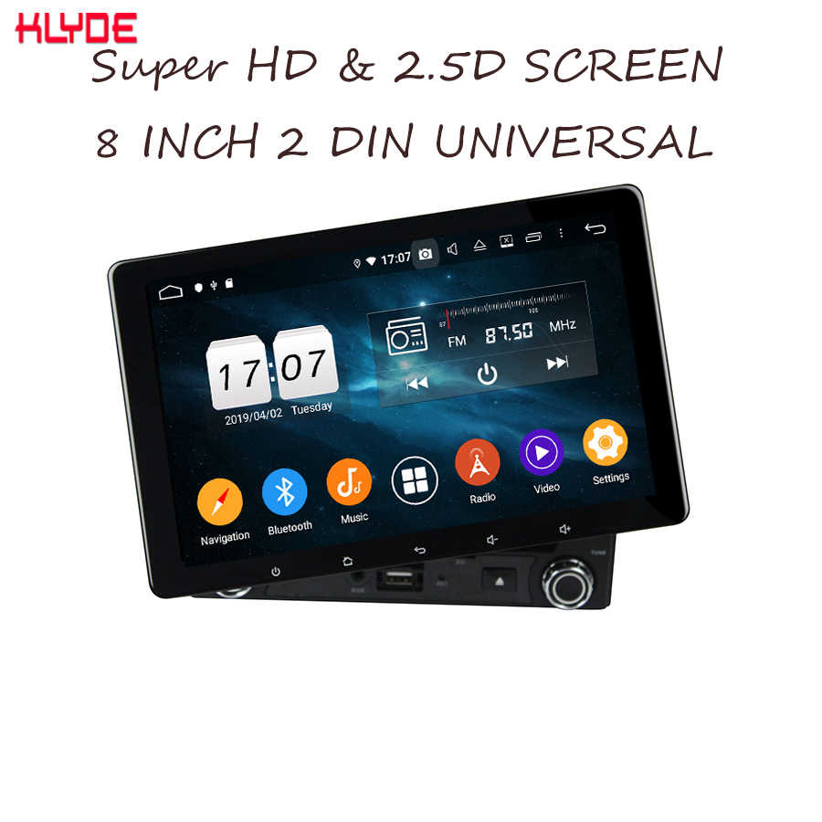Klyde Android 9.0 Octa Inti PX5 64GB 8 Inch 1280*720 IPS Layar 2 DIN Universal Car DVD pemain Dsp Audio Mobil BT5.0 Mobil Video Mic