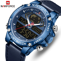 NAVIFORCE Men Watch Top Luxury Brand Leather Waterproof Sports Men's Watches Quartz Analog Digital Watch Male Relogio Masculino