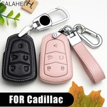 Luxus Leder Auto Schlüssel Abdeckung Fall Für Cadillac Escalade CTS XTS ATS ATS L SLS XLS SRX DTS STS 2015 28T CTS V XT5 CT6 Zubehör