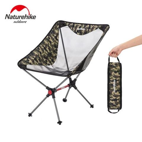 naturehike novo leve portatil dobravel compacto cadeira de acampamento malha de aluminio praia piquenique pesados