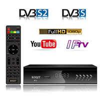 KOQIT K1 Receptor DVB-S2 Receptor de satélite Digital por satélite Fider DVB S2 decodificador sintonizador Wifi Youtube m3u IPTV Biss vu captura
