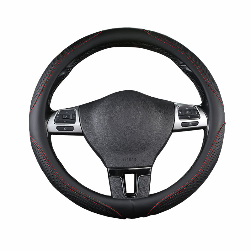 Universal Breathable PU Leather <font><b>Car</b></font> Steering <font><b>Wheel</b></font> Cover 6 Colors to Choose For 37- 38 CM 14.5