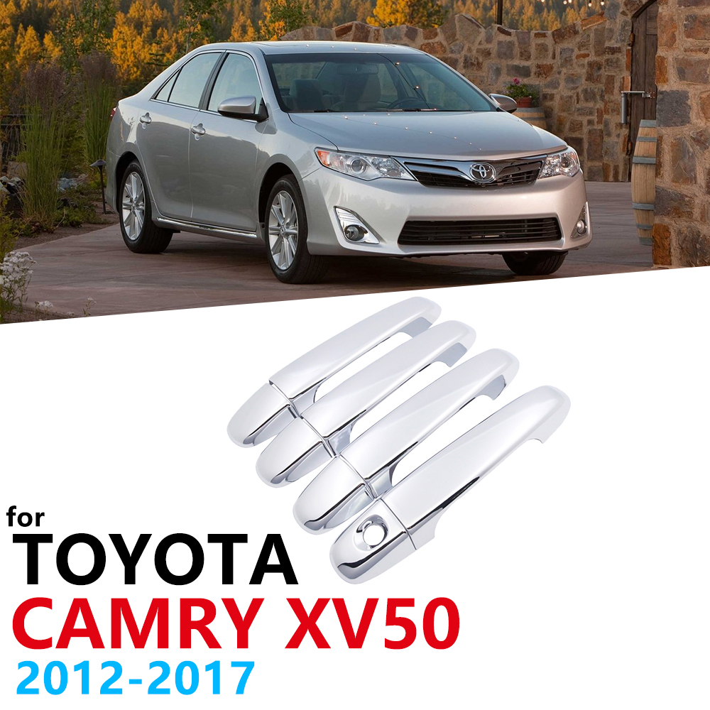 Chrome Handles Cover Trim for Toyota Camry XV50 2012 2013 2014 2015 2016 2017 Exterior Car Accessories Stickers Auto Cap Styling