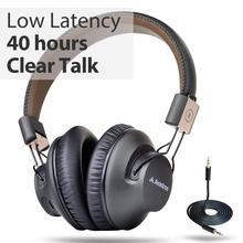 Avantree Vorsprechen Pro 40 H Bluetooth Über Ohr Headset mit Mikrofon für Home Office, Konferenz Rufen, APTX Niedrigen Latenz