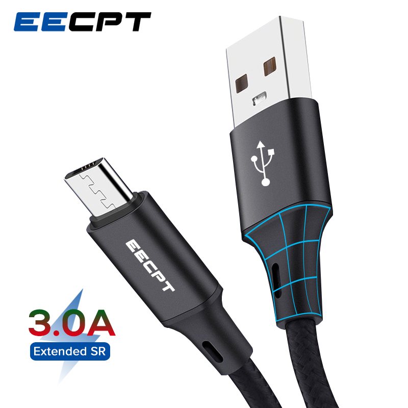 EECPT Micro USB Cable For Xiaomi Redmi Note 5 Pro Fast Charging Wire Android Cord Mobile Phone Charger Cable For Samsung Huawei