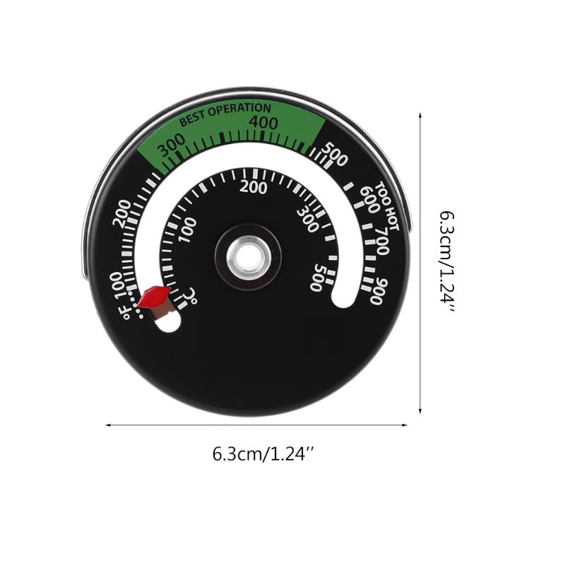 Magnetic Stove Thermometer Fire Place Temperature Monitor Increase Efficiency Q1FD