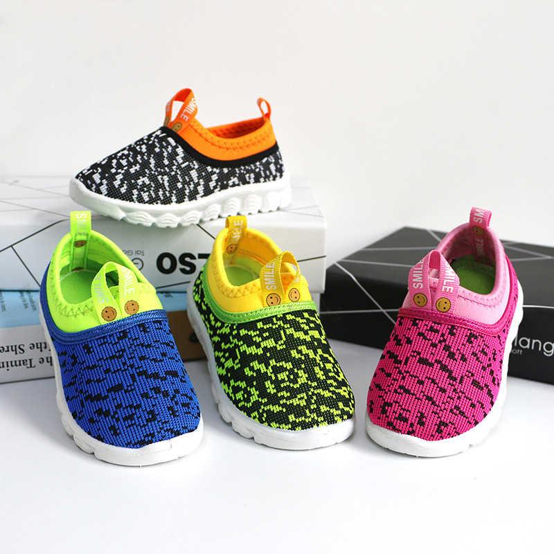 Nieuwe Zachte Kinderen Schoenen Baby Boy Meisje Schoenen Snoep Kleur Geweven Stof Air Mesh Kinderen Casual Sneakers Voor Jongens Meisjes