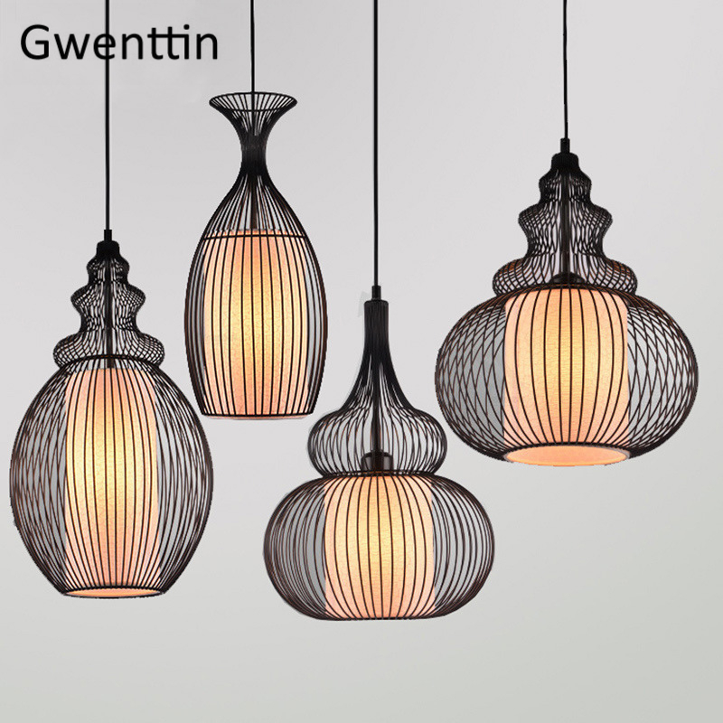 Chinese Style Pendant Lights Home Decor Hanging Lamp For Dining Living Room Bedroom Led Light Fixtures Loft Industrial Luminaire