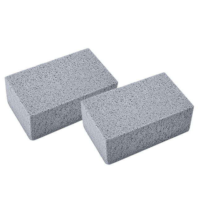 l 2Pcs BBQ Grill Cleaning Brick Block Barbecue Cleaning Stone BBQ Racks Stains Grease Cleaner BBQ Tools Kitchen Gadgets