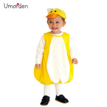 Umorden Halloween Costumes Child Kids Little Yellow Duck Costume Animal Cosplay for Girls Boys Fancy Dress Outfit