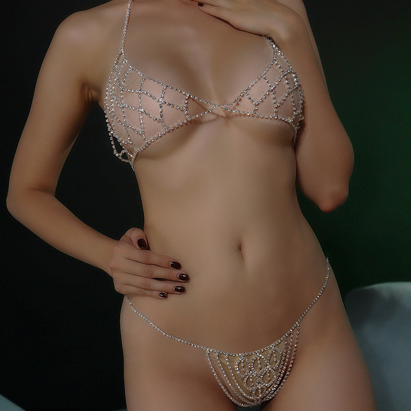 StoneFans Rhinestone Bra Chain Crystal Beach Body Jewelry Shiny Chest Harness Bikini Body Chain Women Necklace Drop Shipping 3