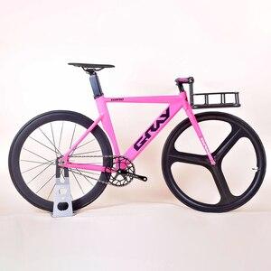 Fixie Bike 48cm 52cm frame single speed bike Welding frame white color Aluminum alloy Customize Track Bicycle 700C wheel(China)