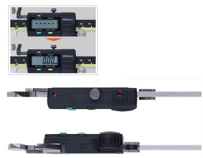 Image 4 - Mitutoyo Calipers Digital Vernier Calipers 0 150 0 200mm LCD 500 196 20 Caliper Electronic Measuring Stainless Steel-in Calipers from Tools