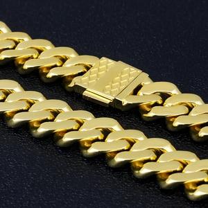 Image 2 - DNSCHIC 18 مللي متر الكوبي سوار الذهب مثلج خارج الكوبي سلسلة ربط رجالي تشيكوسلوفاكيا مثلج سوار للرجال النساء الهيب هوب مجوهرات سوار 8/9 بوصة