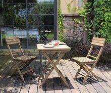 Уличный портативный стол набор стульев из цельного дерева складной