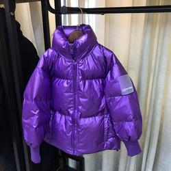 Moda brillante niños abajo chaqueta invierno nuevo abrigo más grueso cálido y suelto Modis niños ropa abajo chaqueta a prueba de viento prendas de vestir exteriores Y2163