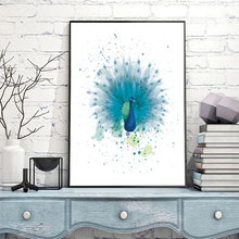 Watercolor Peacock Animal Print Nursery Wall Art Canvas Painting Nordic Posters And Prints Pictures For Living Room