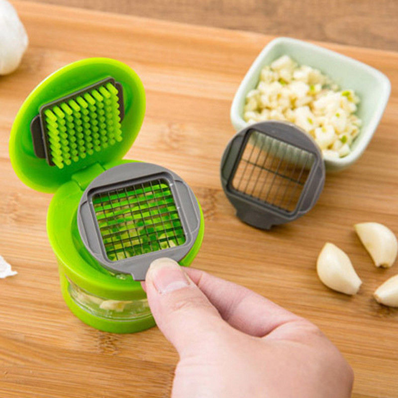 1pc Mini Garlic Press Grater ABS Stainless Steel Chopper Slicer Hand Presser Portable Grinder Onion Cutter Kitchen Gadgets Tool(China)