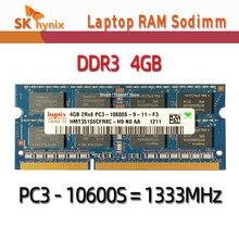 Hynix yonga seti 4GB 2Rx8 10600S PC3 DDR3 1333Mhz dizüstü bellek dizüstü modülü SODIMM RAM 2GB 8500S 12800S 1066MHz 1600MHz