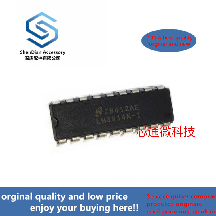 2-10pcs 100% Orginal New Best Qualtiy LM3914N-1 LM3914N DIP18 LM3914 Dot/Bar Display Driver Real Photo