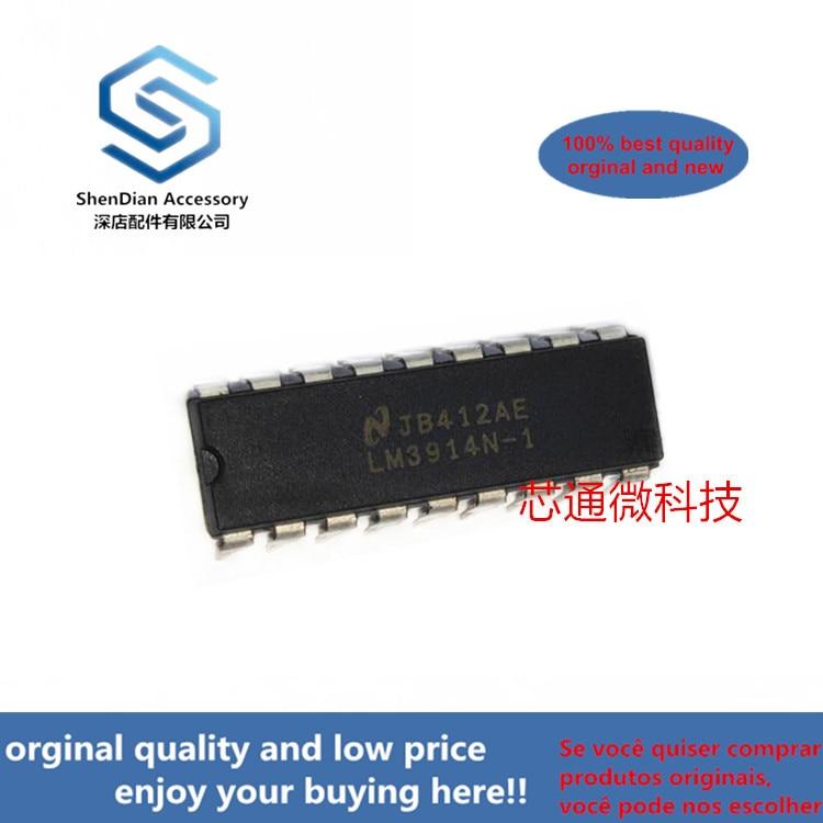 2-10pcs 100% Orginal New Best Qualtiy LM3914N-1 LM3914N DIP18 LM3914 Dot/Bar Display Driver Real Photo