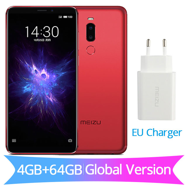 Глобальная версия Meizu Note 8, 4 Гб ОЗУ, 64 Гб ПЗУ, Note8, мобильный телефон Snapdragon 632, четыре ядра, 5,99 дюйма, 2160X1080 P, зарядное устройство европейского стандарта, 3600 мА/ч - Цвет: EU Charger Red