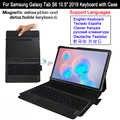 Per Samsung Galaxy Tab S6 10.5 SM-T860 T865 2019 Magnetico Staccabile Bluetooth Tastiera Custodia In Pelle Tablet Coperchio di Protezione