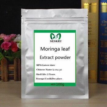 100% Natural Premium Moringa leaf extract powder, regulating insulin, protecting cardiovascular, la mu ye, free shipping