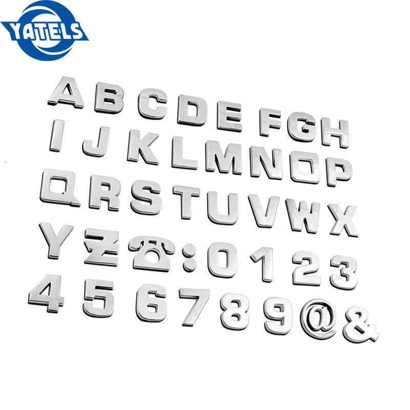 1 шт. автомобиль 3D Английский алфавит цифровая наклейка для BMW M3 M5 X1 X3 X5 X6 E39 E38 E90 E60 E36 F30 F30 E34 F10 F20 автомобильные аксессуары