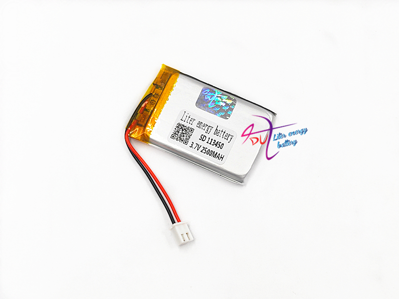 XHR-2P 2.54 113450 <font><b>3.7V</b></font> <font><b>2500MAH</b></font> 603450*2 Lithium Polymer <font><b>LiPo</b></font> Rechargeable <font><b>Battery</b></font> cells For Mp3 DVD PAD speaker camera recorder image