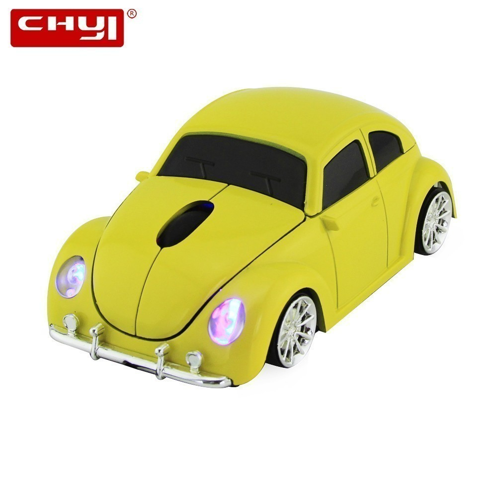 CHYI Cute Wireless 3d Car Computer Mouse Mini Usb Optical VW Beetle Auto Mause Ergonomic Kid Gift PC Mice For Mac Laptop Desktop